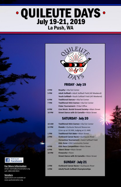 Quileute Days 2019 @ La Push WA | La Push | Washington | United States