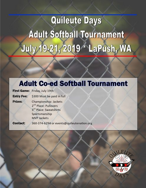 Quileute Days Adult Softball Tournament @ La Push WA | La Push | Washington | United States