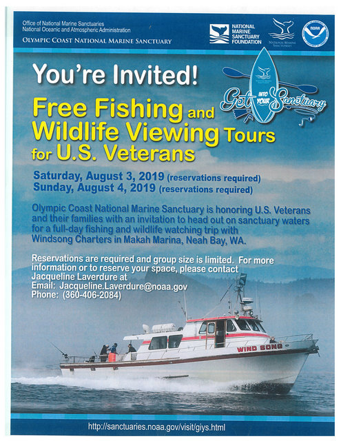 Free Fishing and Wildlife Tours for U.S. Veterans @ Danville | California | United States