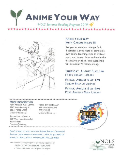 Anime Your Way @ Forks Branch Library | Forks | Washington | United States