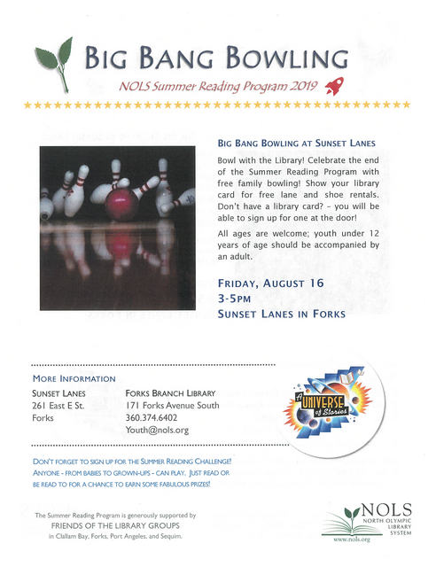 Big Bang Bowling @ Sunset Lanes | Forks | Washington | United States