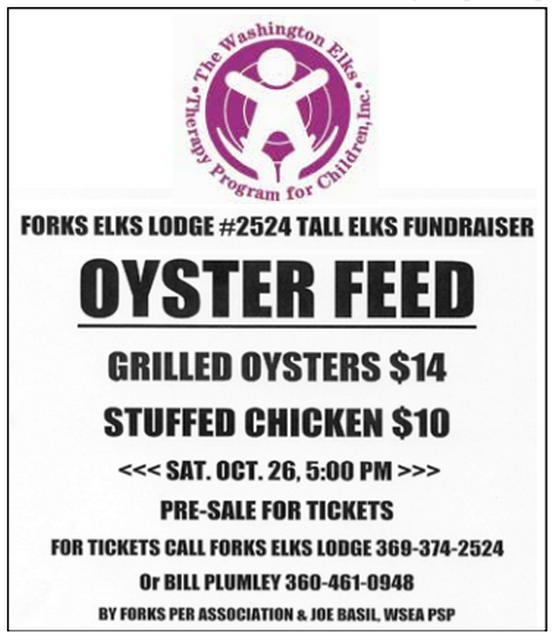 OYSTER FEED @ Forks Elks Lodge | Forks | Washington | United States