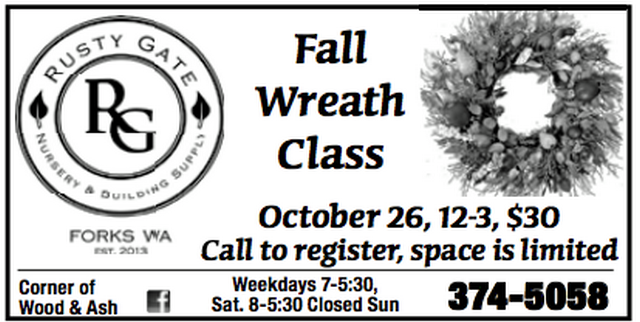 Fall Wreath Class @ Rusty Gate | Forks | Washington | United States