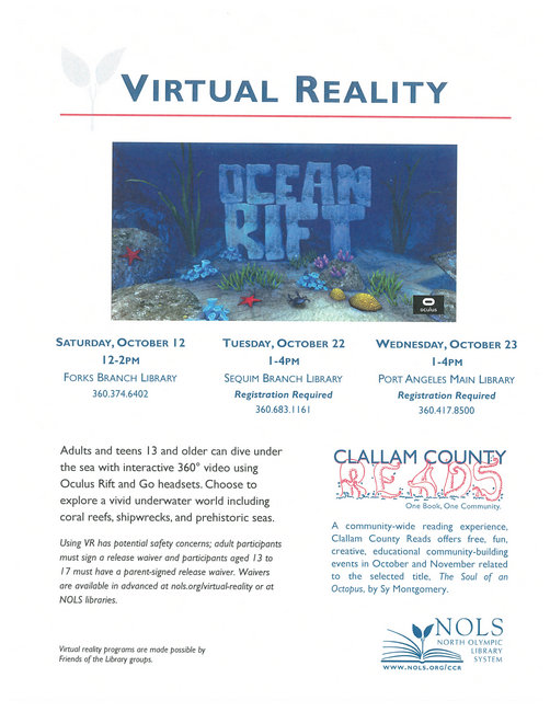 Dive Under the Sea with North Olympic Library @ Forks Branch Library | Forks | Washington | United States