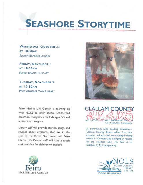 Seashore Storytime @ Forks Branch Library | Forks | Washington | United States