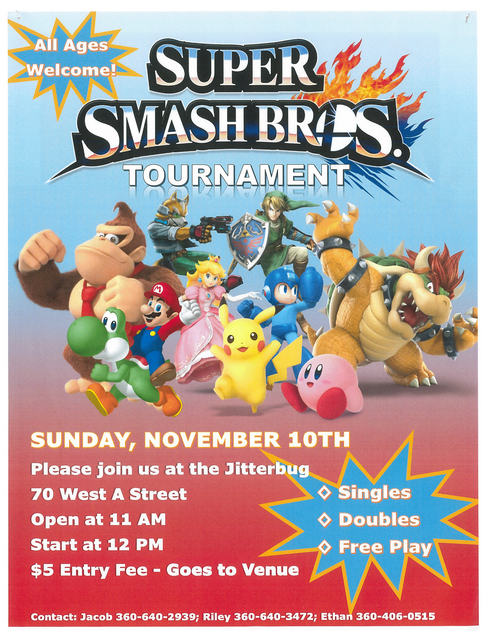 Super Smash Bros Tournament @ Jitterbugs Coffee & Ice Cream | Forks | Washington | United States