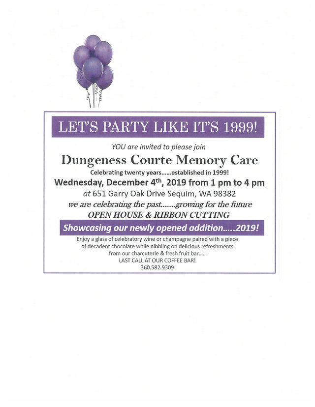 Open House & Ribbon Cutting @ Dungeness Courte Memory Care | Sequim | Washington | United States