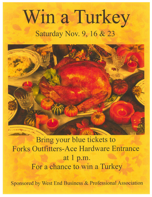 Win a Turkey @ Forks Outfitters | Forks | Washington | United States