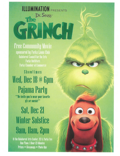 Illumination Presents Dr. Seuss' The Grinch @ Rainforest Arts Center | Forks | Washington | United States