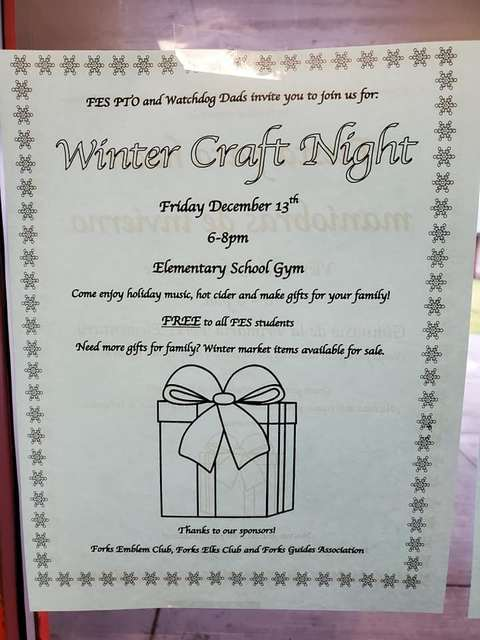 Winter Craft Night @ Forks Elementary School | Forks | Washington | United States