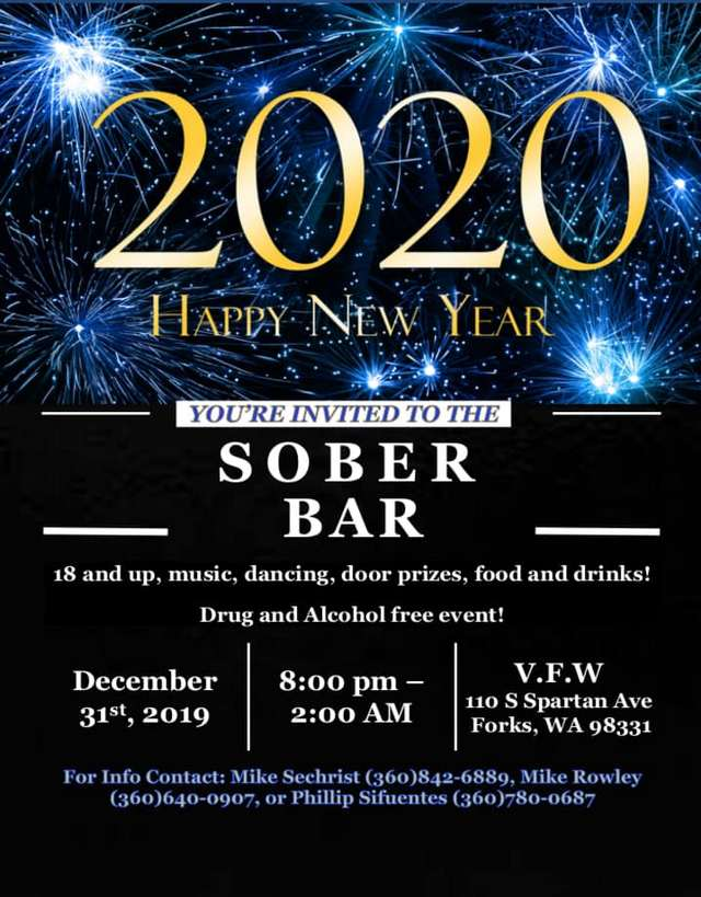 You're Invited to the Sober Bar @ VFW Hall | Forks | Washington | United States