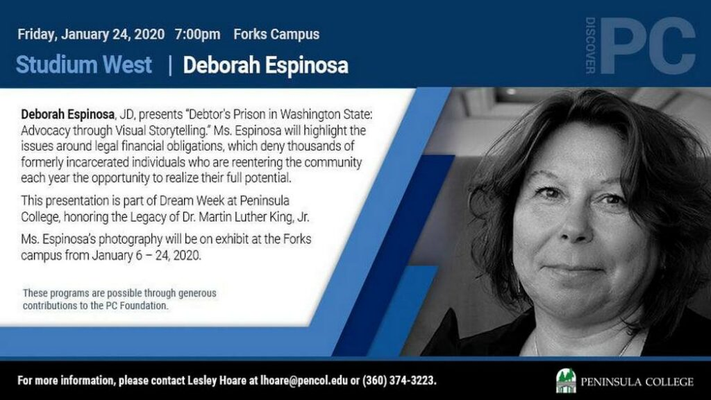 Studium West Present Deborah Espinosa @ Peninsula College Forks Campus | Forks | Washington | United States
