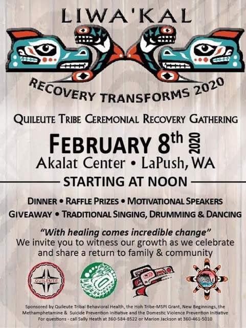 Recovery Transforms 2020 @ Akalat Center | La Push | Washington | United States