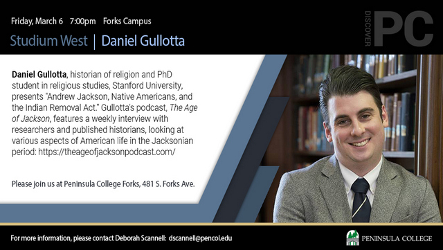 Studium West Presents Daniel Gullato @ Peninsula college | Forks | Washington | United States