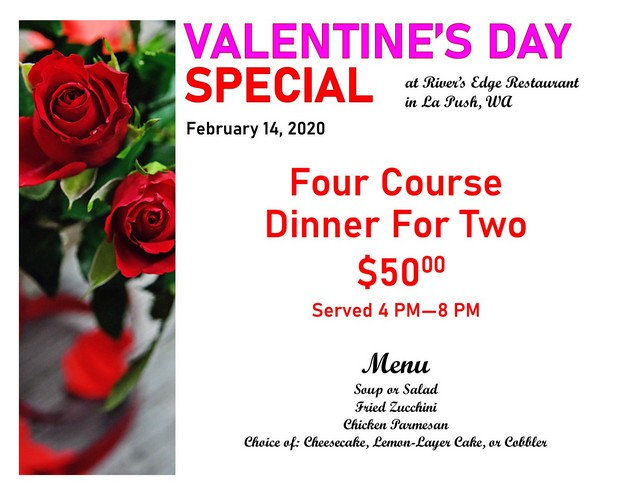 Valentine's Day Special @ Rivers Edge Restaurant | La Push | Washington | United States